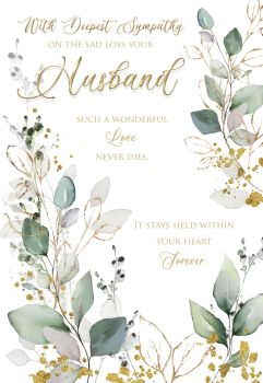 With Deepest Sympathy Card -  SUCH A Wonderful LOVE - LOSS Of HUSBAND Cards - SYMPATHY Cards - HUSBAND Sympathy CARDS - Sympathy & CONDOLENCE Cards