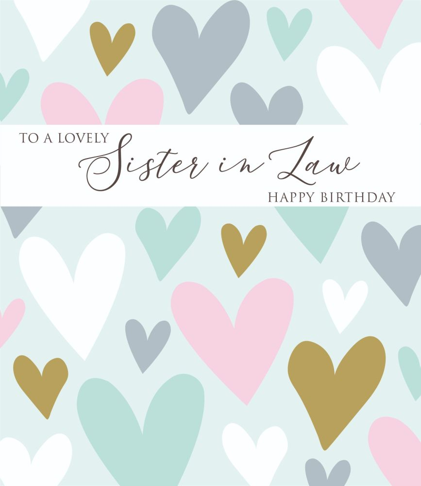 Birthday Cards For Sister In Law - To A LOVELY Sister In LAW - Happy BIRTHD