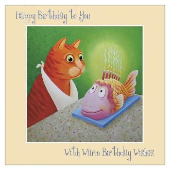 Cards For Cat Lovers - WITH Warm WISHES - Cat BIRTHDAY Cards - FUNNY Cat Birthday CARDS - Funny BIRTHDAY Card FOR Friend