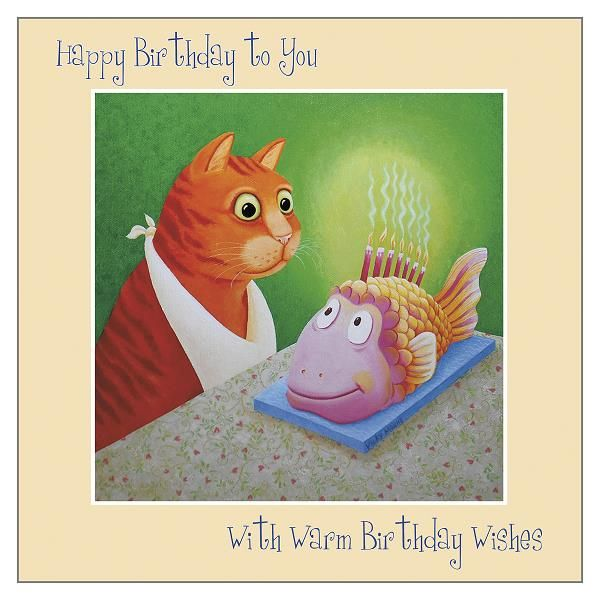 Cards For Cat Lovers - WITH Warm WISHES - Cat BIRTHDAY Cards - FUNNY Cat Bi