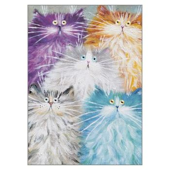 Blank Greeting Cards - CARDS For CAT Lovers - CUTE Cats Blank GREETING Cards - Any OCCASION Blank CARDS - Art Greeting CARDS - Birthday - Thank YOU
