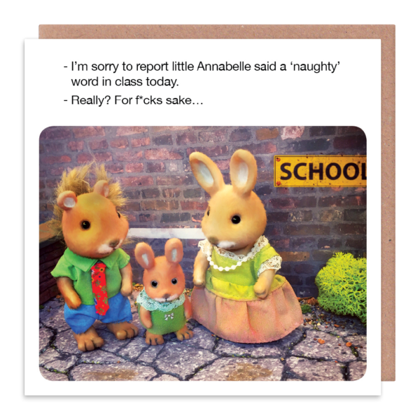 Swearing Card - Little ANNABELLE Said A NAUGHTY WORD - Funny Cards - BANTER