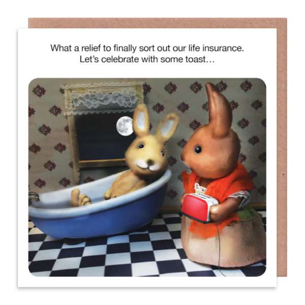 Funny Insurance Greeting Cards - LET'S Celebrate With Some TOAST - Financia