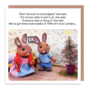 Grumpy Husband Christmas Card - THREE More WEEKS Of This SH*T - Funny CHRISTMAS Cards - MOANING Husband CHRISTMAS Card - FUNNY Xmas CARDS For HIM