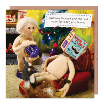 Nudist Christmas Cards - ROOM For A BIG Purple ONE - RUDE & Funny CARDS - OBSCENE Christmas CARDS - Funny CHRISTMAS Cards - CHOCOLATE Addict CARDS