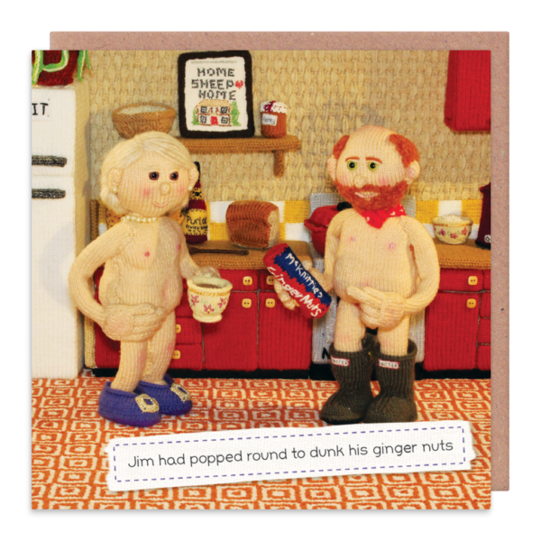 Nudist Greeting Cards - DUNK His GINGER Nuts - RUDE & Funny CARDS - OBSCENE