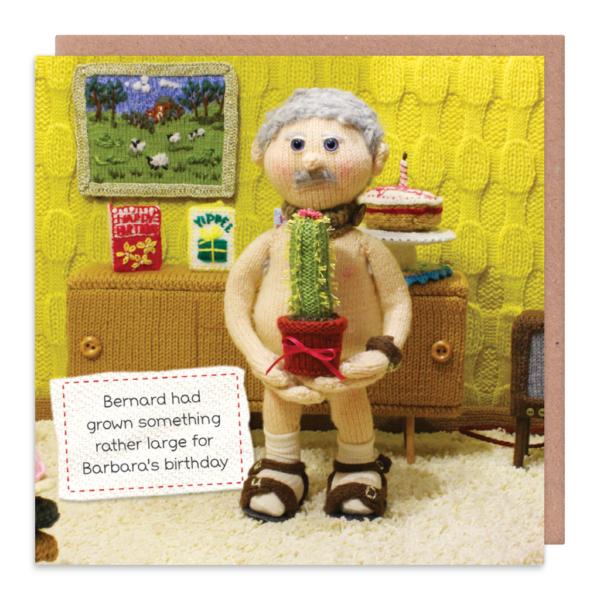 Nudist Greeting Cards - BERNARD Had GROWN Something RATHER Large - RUDE & F