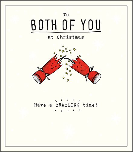 To Both Of You At Christmas - COUPLE Christmas CARDS - Have A CRACKING Time