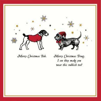 Funny Dog Christmas Cards - MERRY Christmas BOB - Funny CHRISTMAS Cards - DOG Christmas CARDS - Cute & FUNNY DOG Christmas CARDS - Dog GREETING Cards