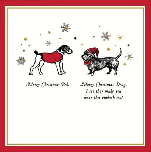 Funny Dog Christmas Cards - MERRY Christmas BOB - Funny CHRISTMAS Cards - D