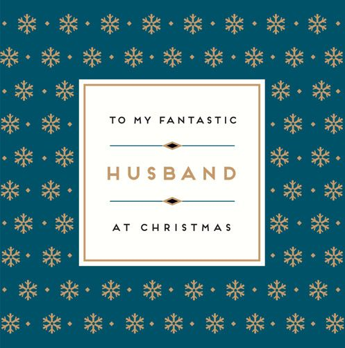 Fantastic Husband Christmas Card - CHRISTMAS Cards For HUSBAND - Stylish CH