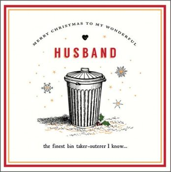 Funny Husband Christmas Cards - The FINEST Bin TAKER-OUTER - Christmas Cards For HUSBAND - Christmas CARDS Online - CHRISTMAS Cards For HIM
