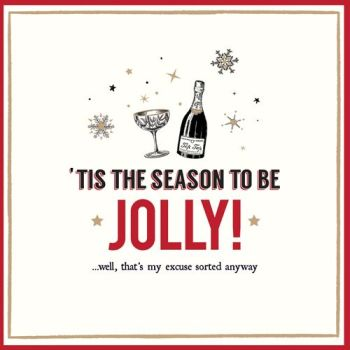 Funny Wine Christmas Cards - THAT'S My EXCUSE Sorted ANYWAY - Wine CHRISTMAS Cards - FUNNY Christmas CARDS For FRIENDS & Family