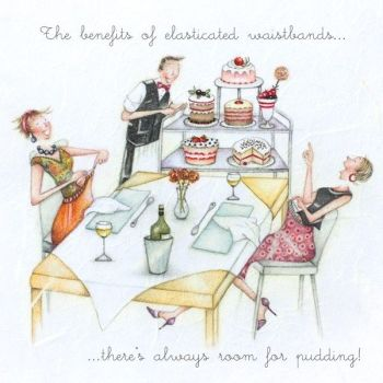 Funny Food Birthday Cards For Her - ALWAYS Room For PUDDING - FOOD Birthday Card - Funny Birthday CARDS - Funny CAKE Birthday CARDS For FRIEND