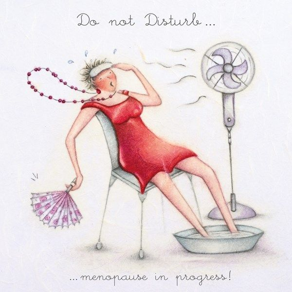 Menopause Greeting Cards - DO Not DISTURB - Funny MENOPAUSE CARDS - Hot Flu