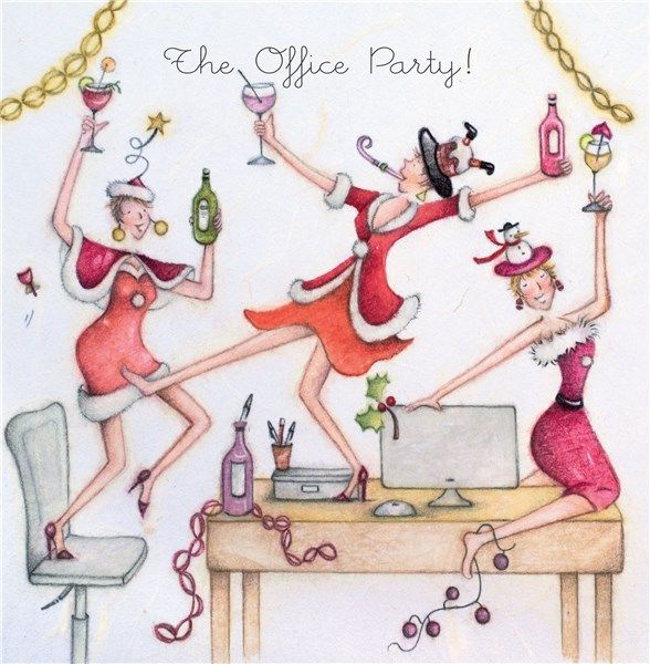 The Office Christmas Card - THE OFFICE Party - OFFICE Party XMAS Card - DRI
