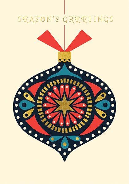 Season's Greetings Christmas Card - CHRISTMAS Cards - Nordic STYLE Christma