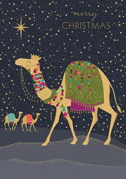 Merry Christmas Christmas Card - CHRISTMAS Cards - STUNNING Gold FOIL Chris