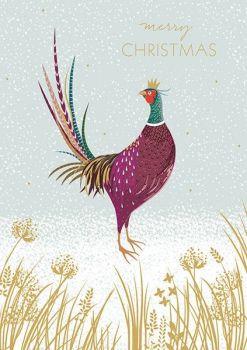 Christmas Cards - MERRY Christmas - PHEASANT Christmas CARDS - Pheasant IN Winter SNOW Christmas CARD - Christmas CARDS