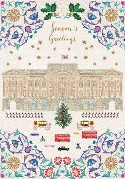 Buckingham Palace London Christmas Card - Season's GREETINGS - CITYSCAPE Christmas CARDS - Exquisite GOLD Foil CHRISTMAS Card - FINE Art CARDS