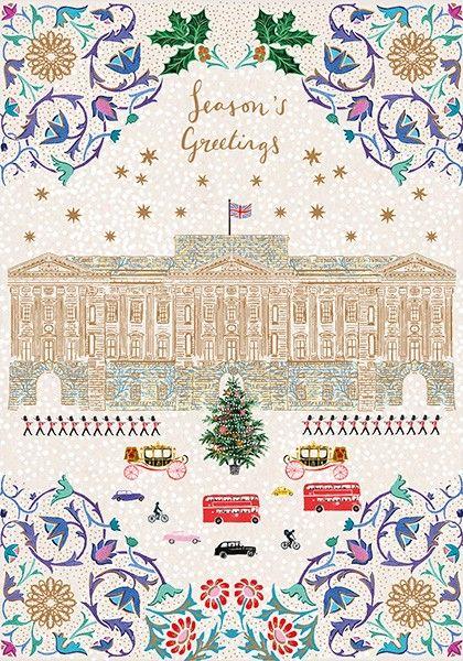 Buckingham Palace London Christmas Card - Season's GREETINGS - CITYSCAPE Ch
