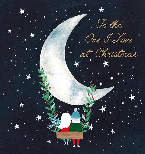 To The One I Love Christmas Card - LOVE Christmas CARDS - LUXURY Gold FOIL