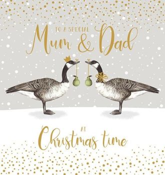 Beautiful Mum & Dad Christmas Card - TO A Special MUM & DAD At Christmas TIME - UNIQUE Christmas CARDS For PARENTS - Mum & DAD Christmas CARDS