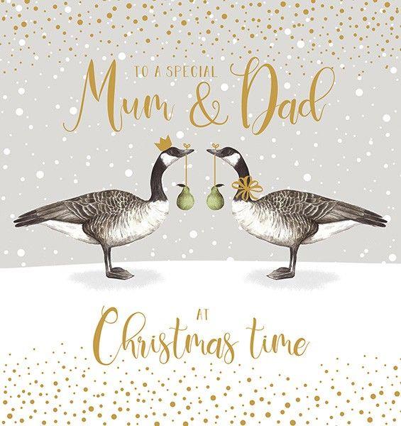 Beautiful Mum & Dad Christmas Card - TO A Special MUM & DAD At Christmas TI