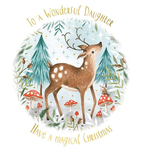 Wonderful Daughter Christmas Cards - Have A MAGICAL Christmas - DAUGHTER Ch