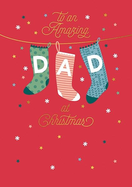 Amazing Dad Christmas Cards - TO An AMAZING Dad At CHRISTMAS - Dad CHRISTMA
