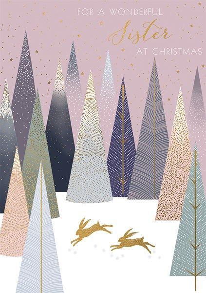 Wonderful Sister Christmas Cards - FOR A Wonderful SISTER At CHRISTMAS - Go