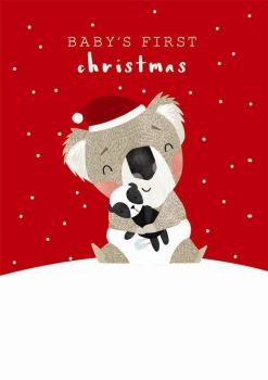 Baby's First Christmas Card - CHRISTMAS Cards - CUTE Koala CHRISTMAS Card - FIRST Christmas CARD - Baby CHRISTMAS Cards