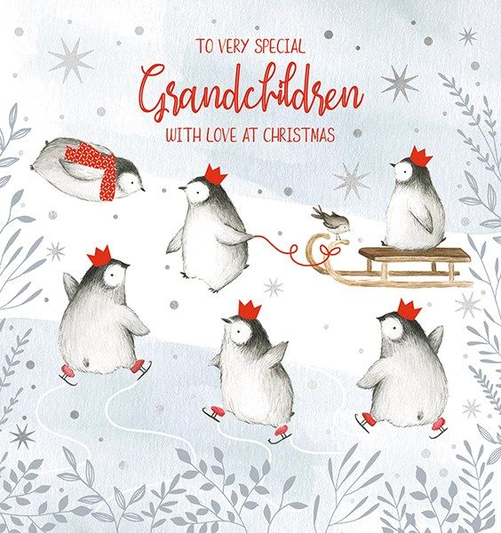 Special Grandchildren Christmas Cards - WITH Love At CHRISTMAS - ICE Skatin