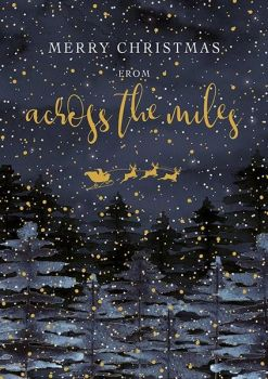 Christmas Cards - ACROSS The MILES - Merry CHRISTMAS Christmas CARDS - Across The MILES Dark FOREST - Christmas CARDS For FAMILY & Friends