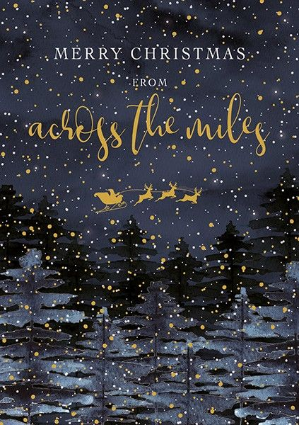 Christmas Cards - ACROSS The MILES - Merry CHRISTMAS Christmas CARDS - Acro