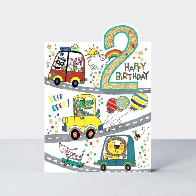 2nd Birthday Cards - 2 Happy BIRTHDAY - BOYS Birthday CARDS - 2nd BIRTHDAY