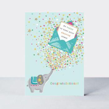 Unique Congratulations Cards - SO Happy TO Hear Your AMAZING News - CONGRATULATIONS Card FOR New JOB - Pregnancy - BABY