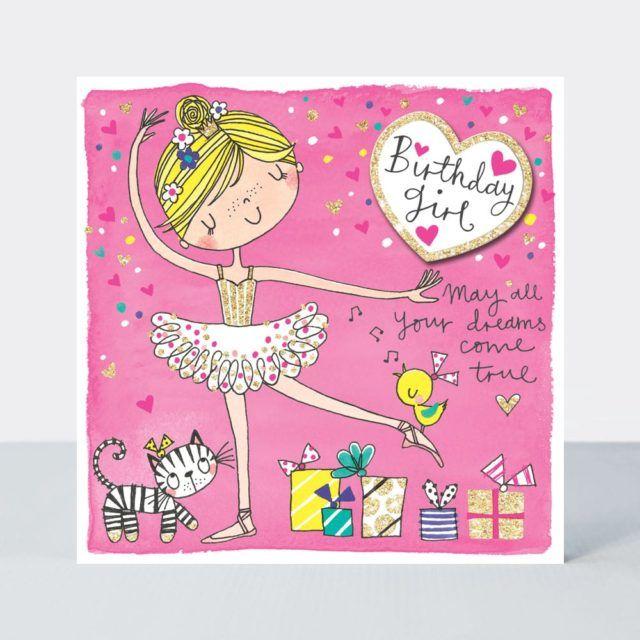 Ballerina Birthday Cards - MAY All Your DREAMS Come TRUE - Ballet BIRTHDAY