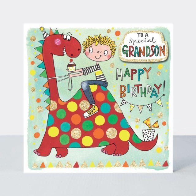 Special Grandson Birthday Card - HAPPY BIRTHDAY - Grandson BIRTHDAY Cards -