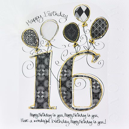 Pleasing 16Th Birthday Cards Luxury Boxed 16Th Birthday Card Happy Personalised Birthday Cards Paralily Jamesorg