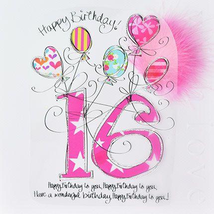16th Birthday Cards - HAVE A Wonderful BIRTHDAY - LUXURY Boxed 16th BIRTHDA