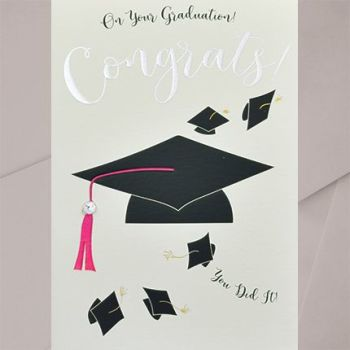 Graduation Greeting Cards - CONGRATS You DIT IT -Embellished GRADUATION Card FOR Her - Graduation CARDS - GRADUATION Congratulations CARDS