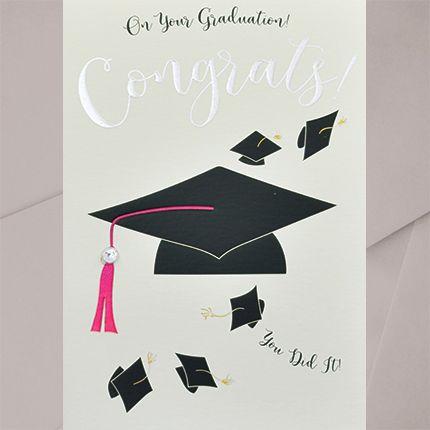 Graduation Greeting Cards - CONGRATS You DIT IT -Embellished GRADUATION Car