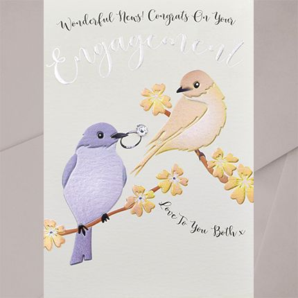 Engagement Cards - WONDERFUL News CONGRATS On Your ENGAGEMENT - Embellished