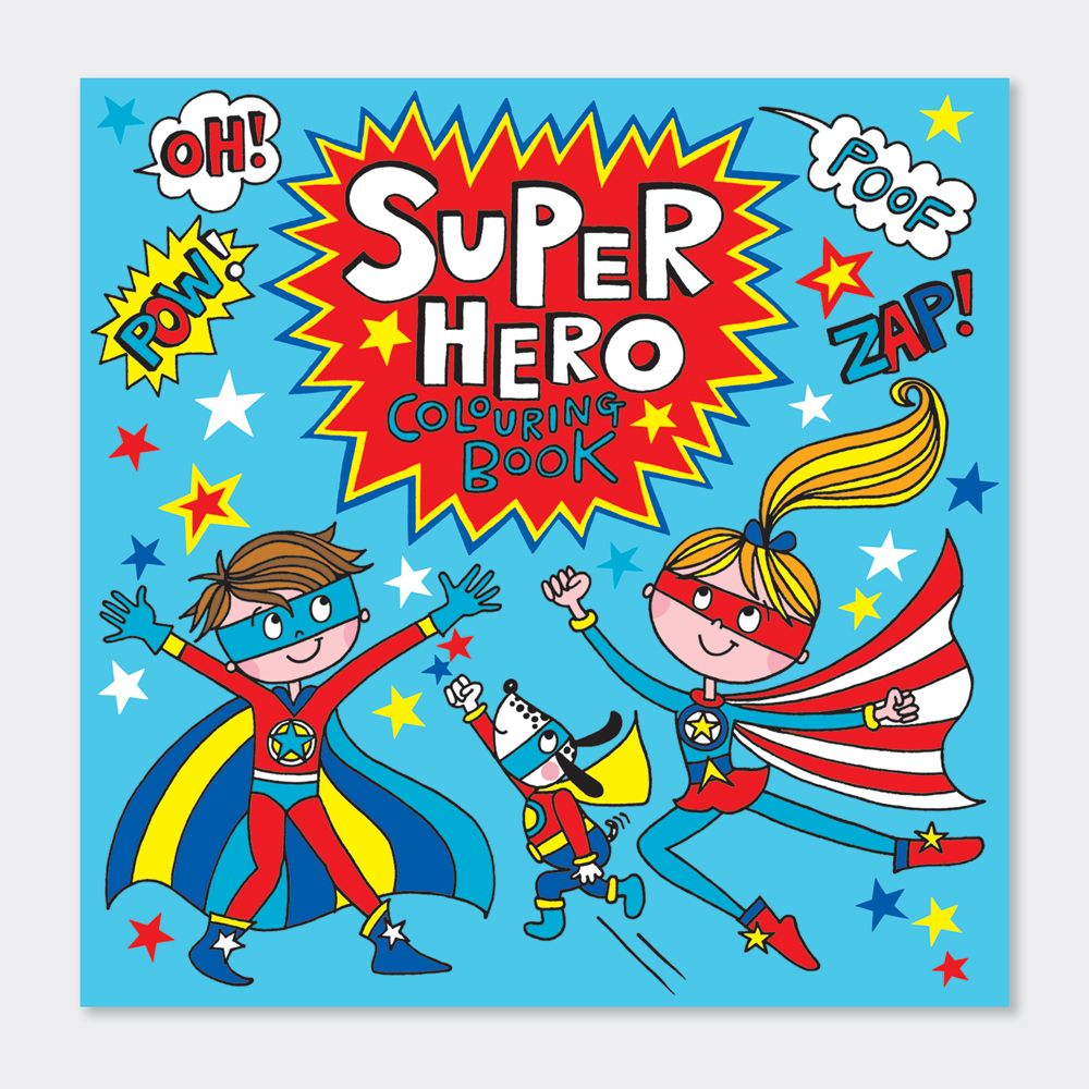 Super Hero Colouring Book - CHILDREN'S Colouring BOOKS - KIDS Colouring BOO