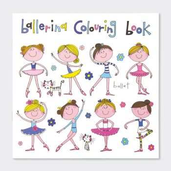 Girls Ballerina Colouring Book - BALLERINA Colouring BOOK - Ballerina COLOURING Book For KIDS -Ballet POSITIONS Colouring BOOK - Colouring Books