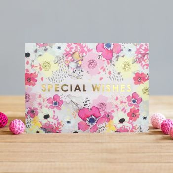 Birthday Card For Someone Special - SPECIAL WISHES - Happy BIRTHDAY Card - SPECIAL Wishes CARD - PRETTY Birthday CARD For MUM - Gran - AUNTY