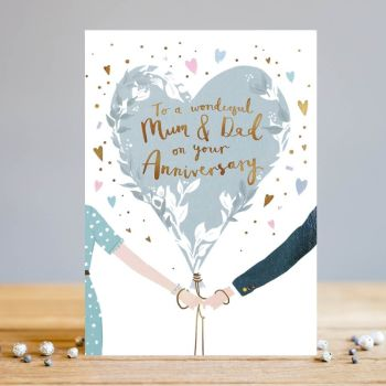 Anniversary Cards - To A WONDERFUL Mum & DAD - Anniversary CARDS For PARENTS - Mum & DAD Anniversary CARDS - Wedding ANNIVERSARY Cards FOR MUM & Dad