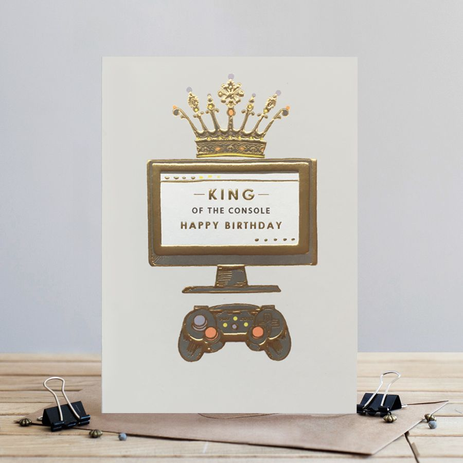 Gaming Birthday Card - KING Of the CONSOLE - Happy Birthday CARD - GAMER Co