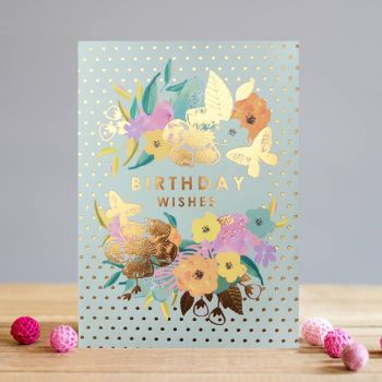 Floral Birthday Cards - BIRTHDAY Wishes - FLORAL Greeting CARDS - Birthday CARDS For MUM - Gran - NAN - Aunty - FRIEND